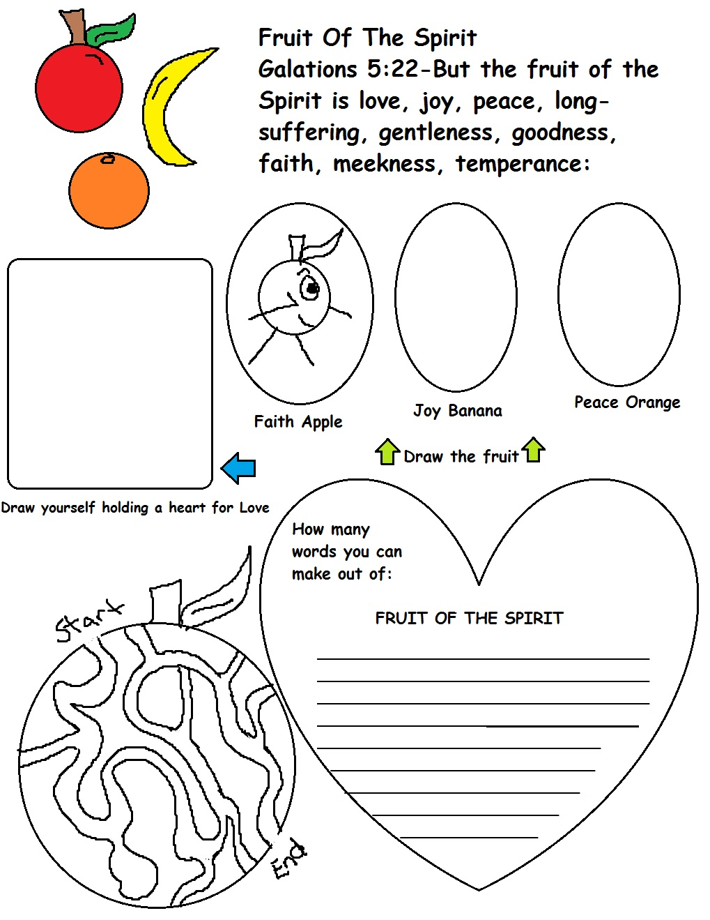 Worksheets Fruit Of The Spirit Worksheets fruit of the spirit worksheets free library download 17 images about on pinterest maze sunday