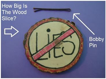 Thou shalt not lie Wood Slice Craft for Ten Commandments