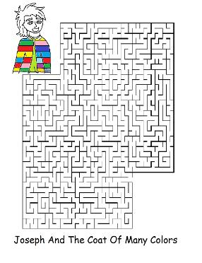 Josephs Coat of Many Colors Maze