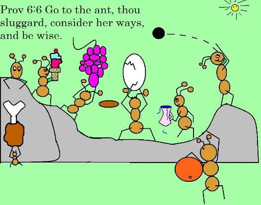 Go to the ant sluggard clipart