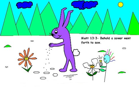 A sower went forth to sow clipart