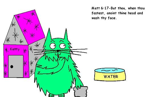 Matthew 6:17 But thou when thou fastest anoint thine head and wash thy face Clipart