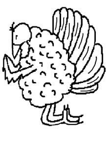 Praying Turkey Coloring Page