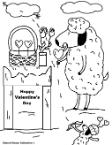 Valentine's day Coloring pages Sheep Eating Suckers