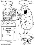 Valentine Coloring Pages Happy Valentine's Day School Kids Sheep