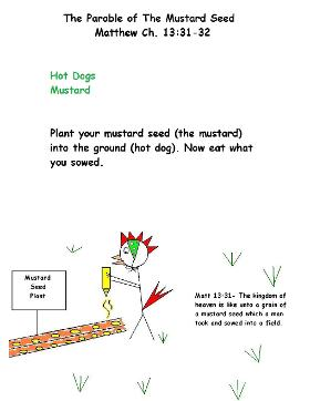 the parable of the mustard seed snack for kids recipe for Sunday school