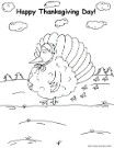 turkey happy thanksgiving coloring pages, turkey coloring pages, turkey wearing bonnet coloring page, happy thanksgiving turkey coloring page